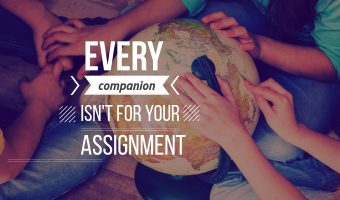 Every Companion Isn't Ordained For Your Assignment