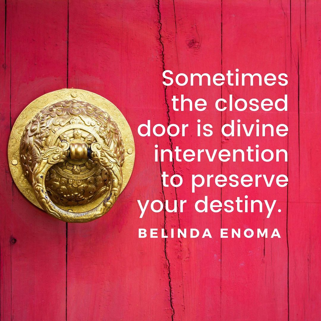 inspirational quote about closed door